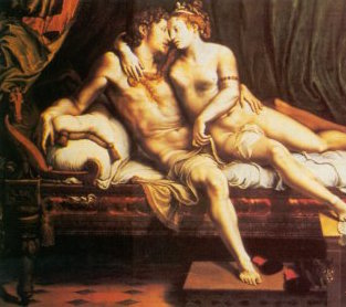 """Two Lovers"", Giulio Romano, c. 1525, State Hermitage Museum"