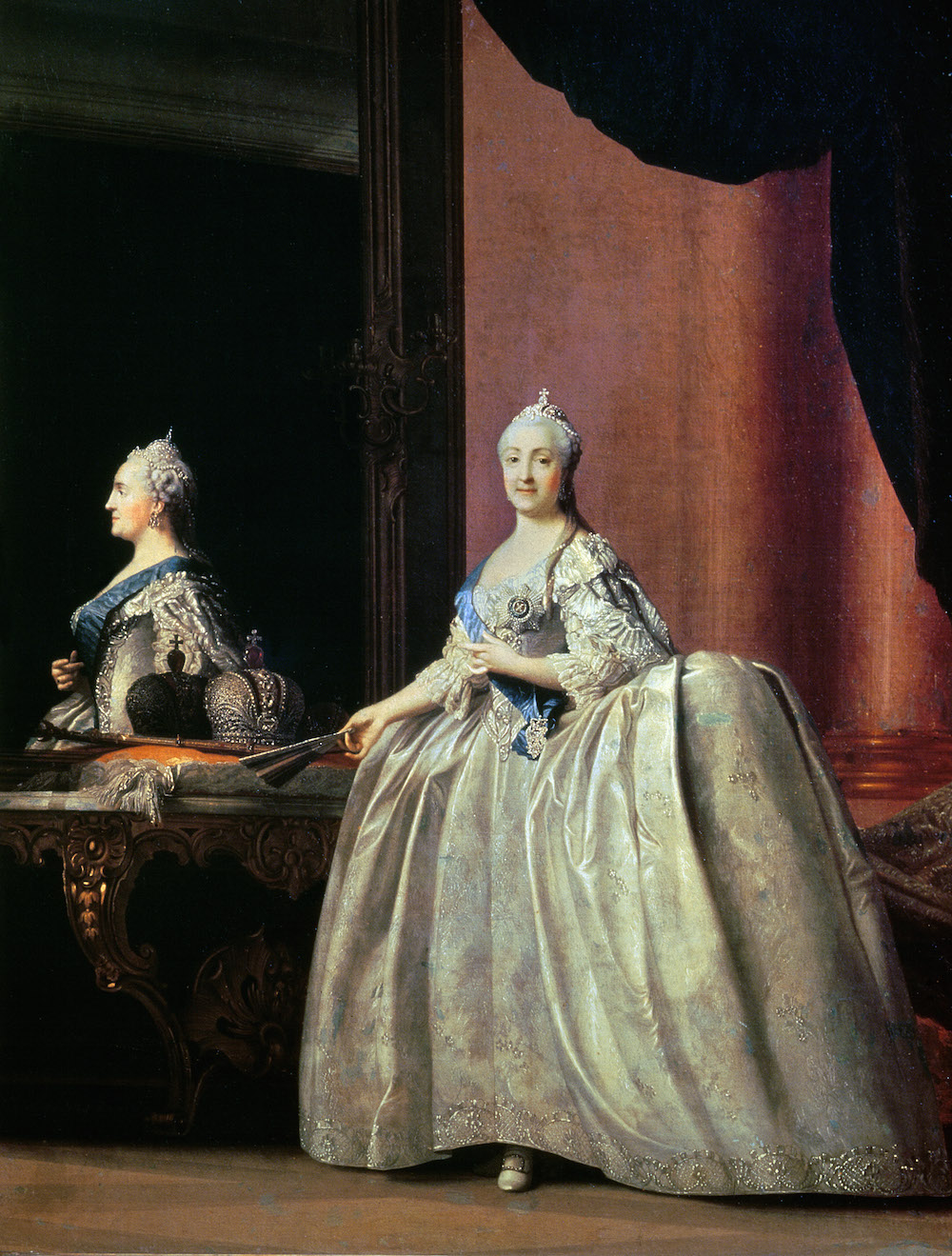 Empress Catherine II before the Mirror, 1779, Vigilus Eriksen / State Russian Museum, St. Petersburg, Russia / Bridgeman Images