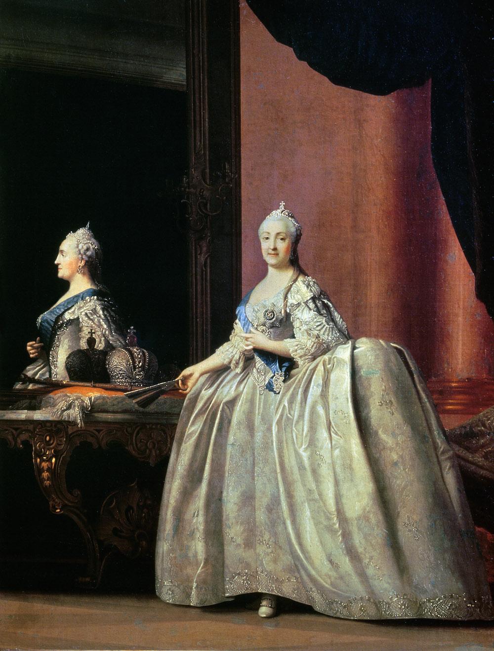 Empress Catherine II before the Mirror, 1779, Vigilus Eriksen / State Russian Museum, St. Petersburg, Russia / Bridgeman Images