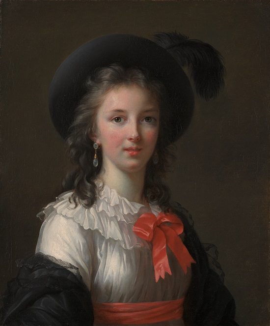 Elisabeth Louise Vigée Le Brun, Self-Portrait with Cerise Ribbons, ca. 1782. Oil on canvas, 25 ½ x 21 ¼ in. Kimbell Art Museum, Fort Worth, Texas