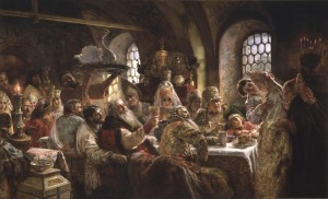 Konstantin Makovsky, A Boyar Wedding Feast, 1883, Konstantin Makovsky, oil on canvas. Hillwood Estate, Museum & Gardens